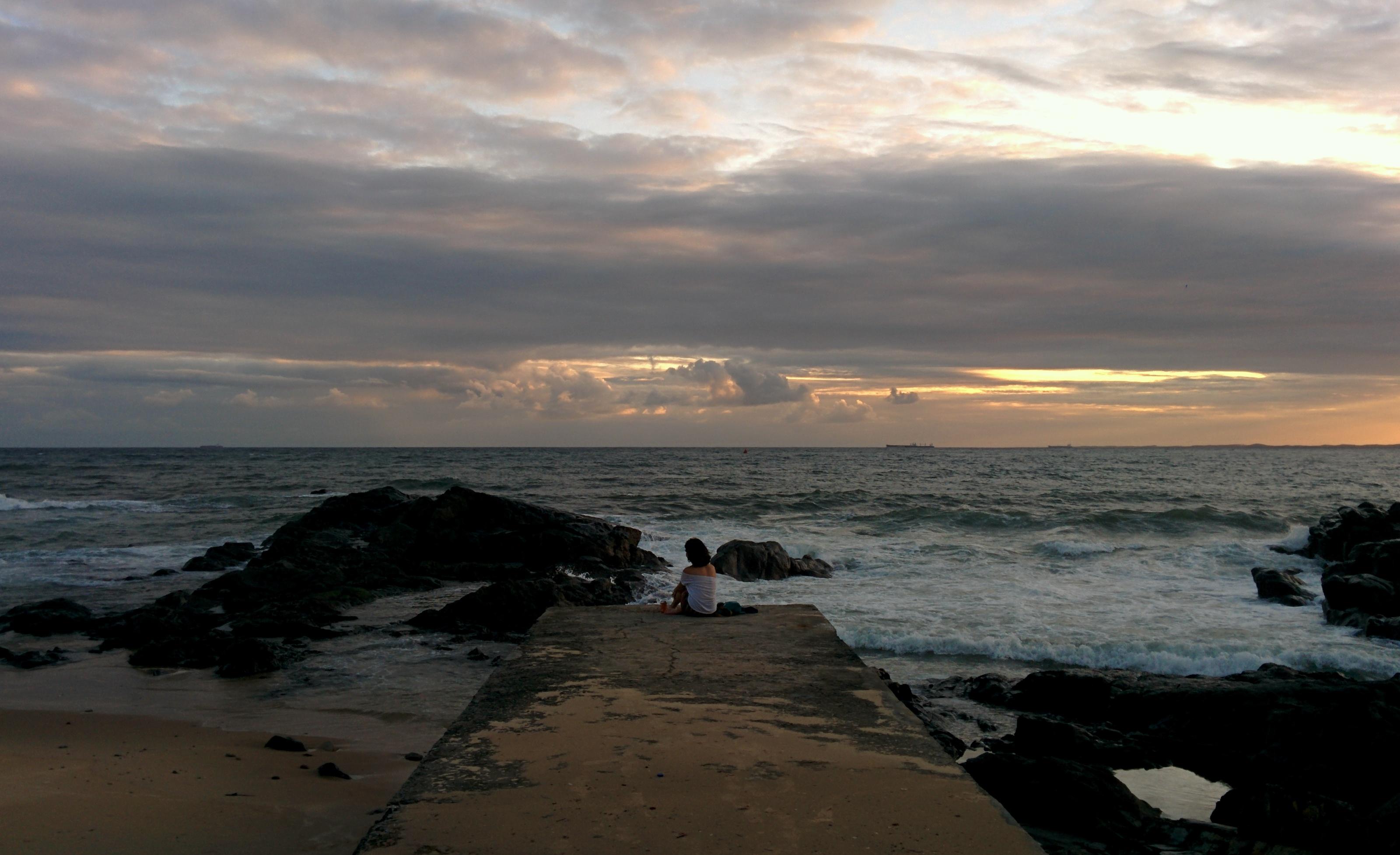 Pôr do Sol na Praia da Barra.
