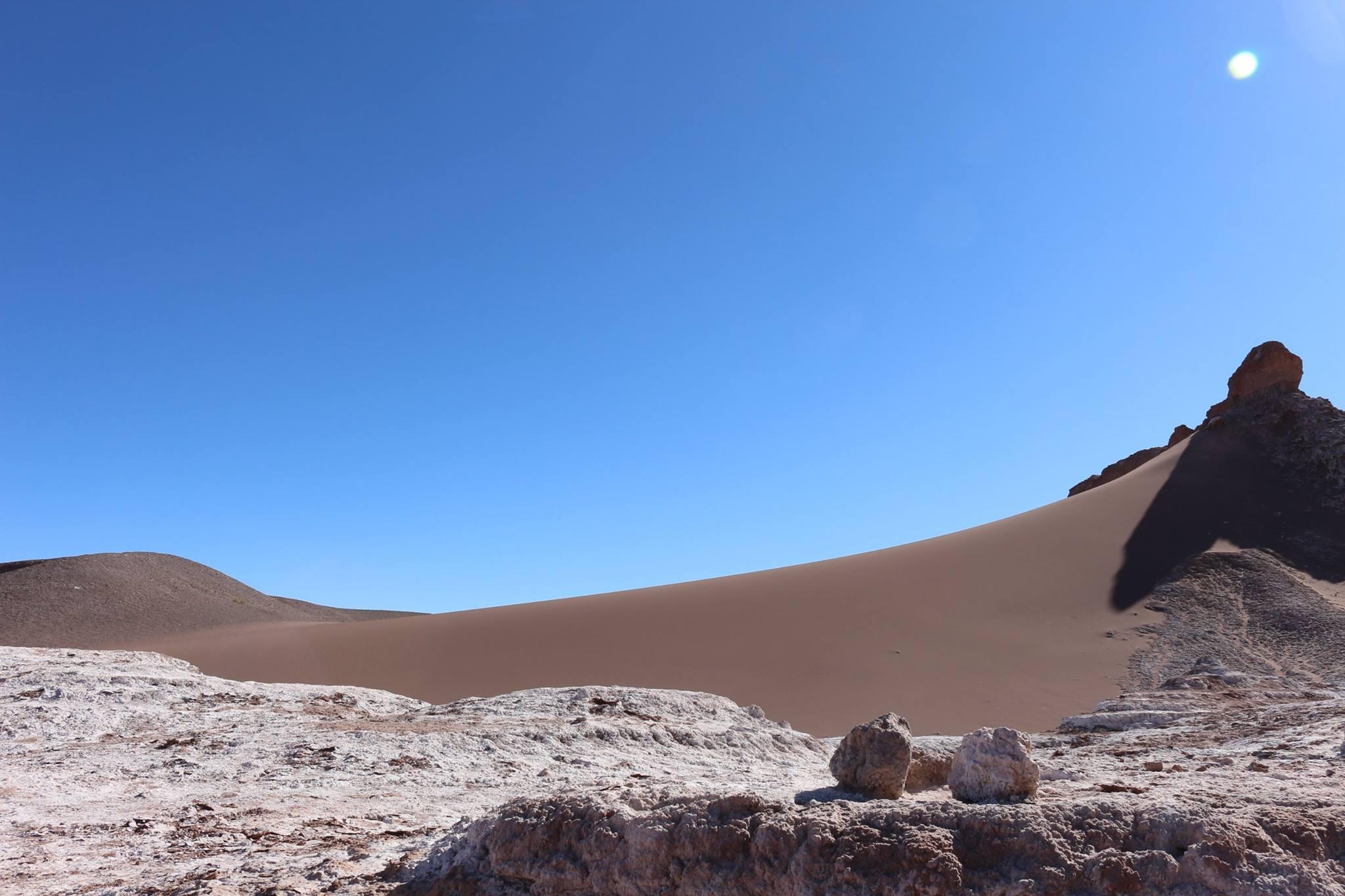 De qualquer ângulo o deserto parece uma pintura