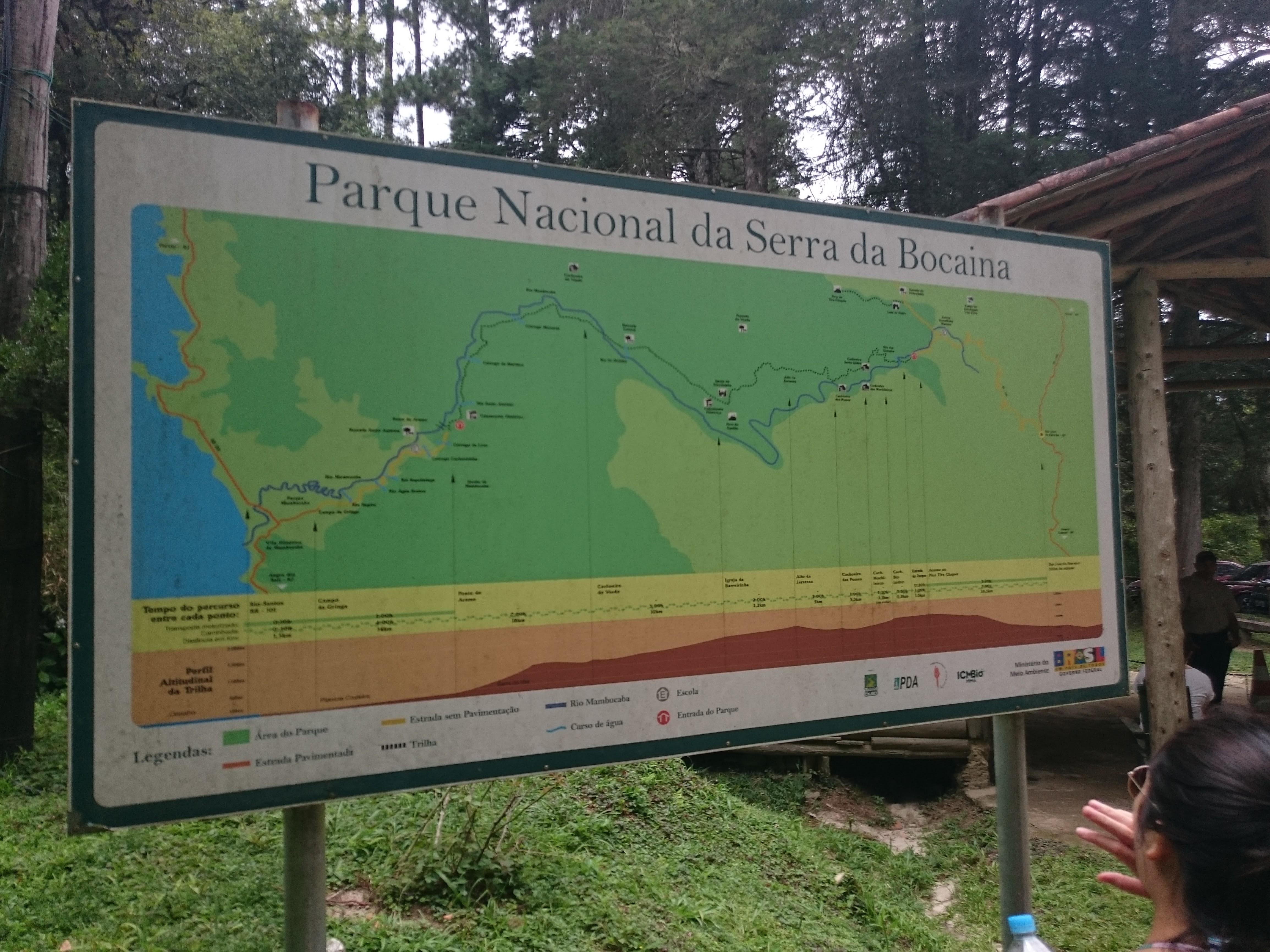 Mapa Parque Nacional Serra da Bocaina