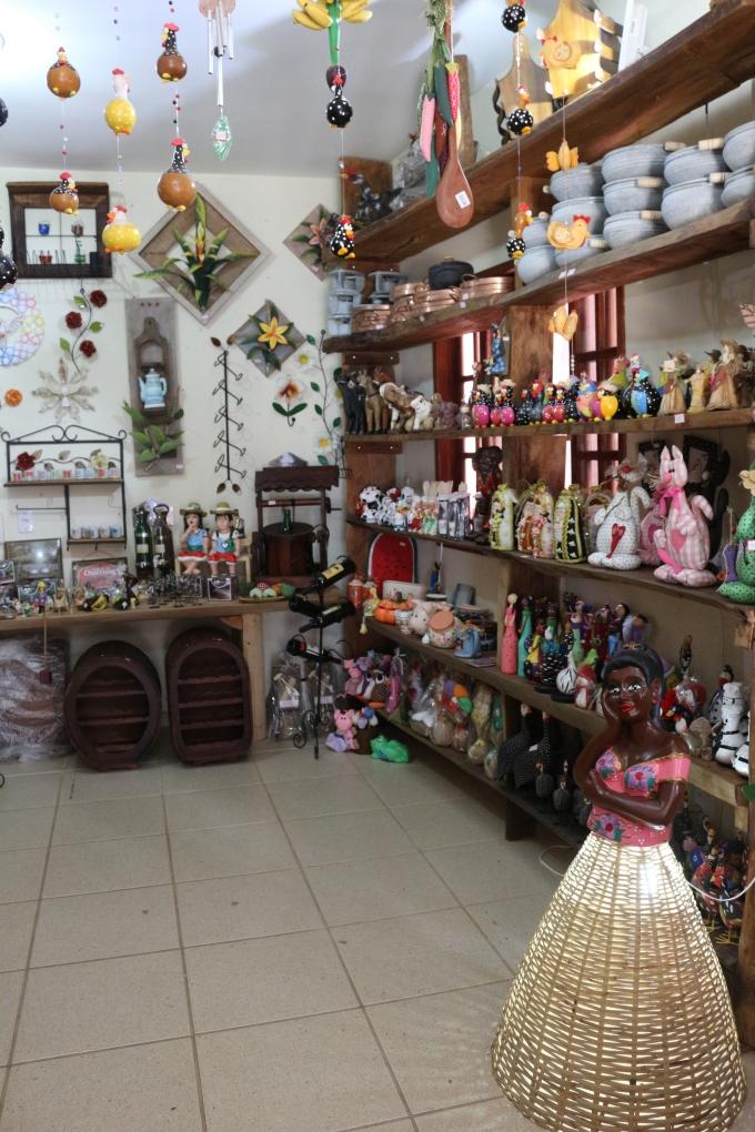 Loja de artesanato no Arraial