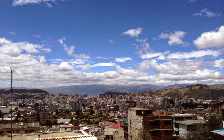À medida que eu caminhava, mais longe Quito ficava