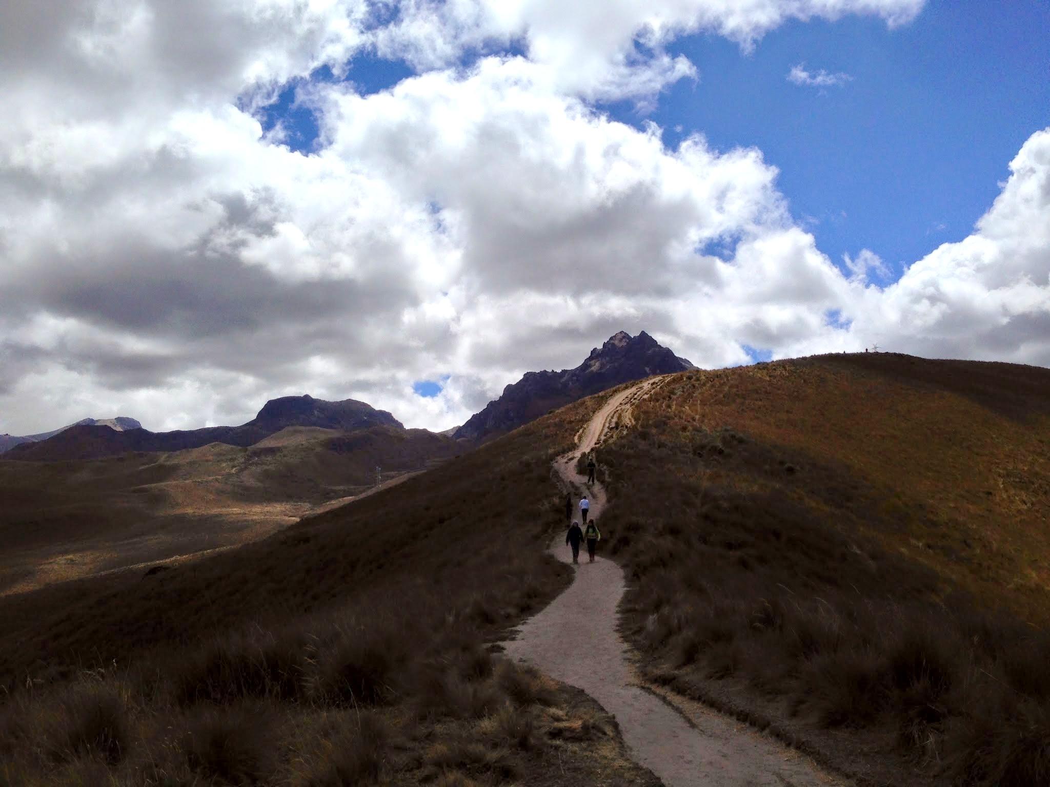 Começo da trilha para o Vulcão Pichincha
