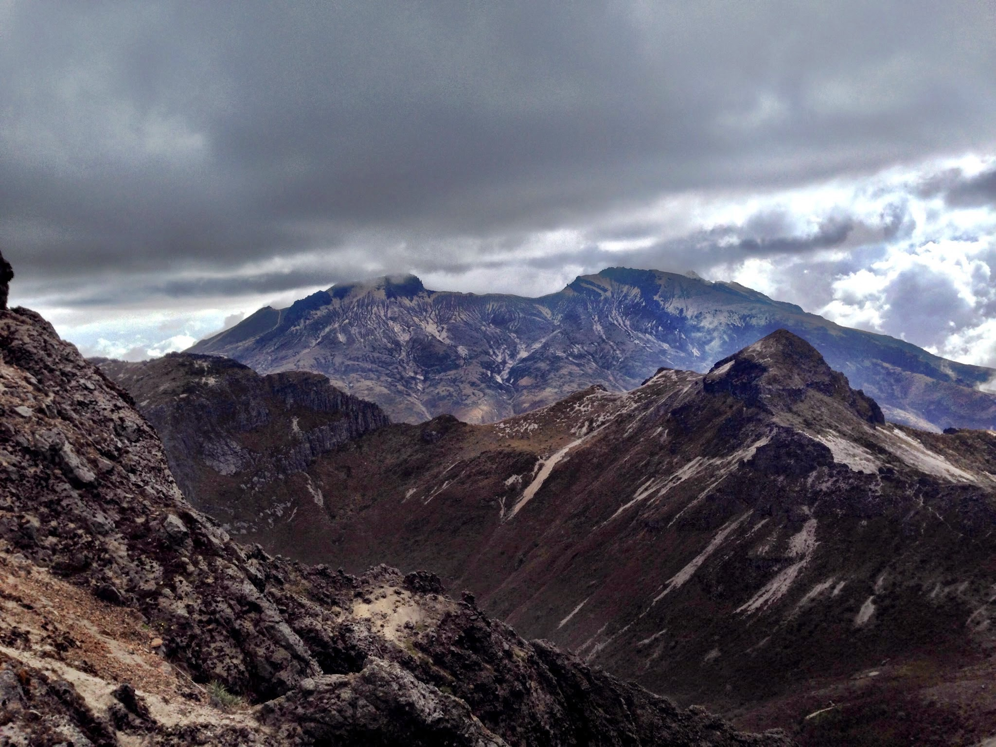 Vista do local mais alto que cheguei no Vulcão Pichincha