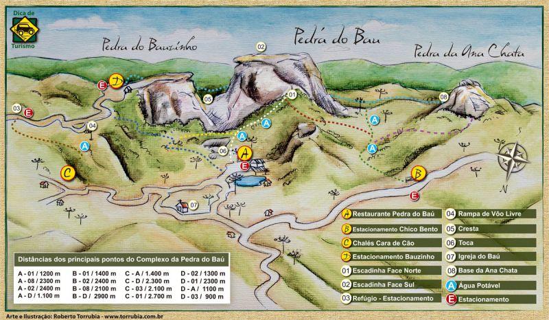 Mapa complexo do bau