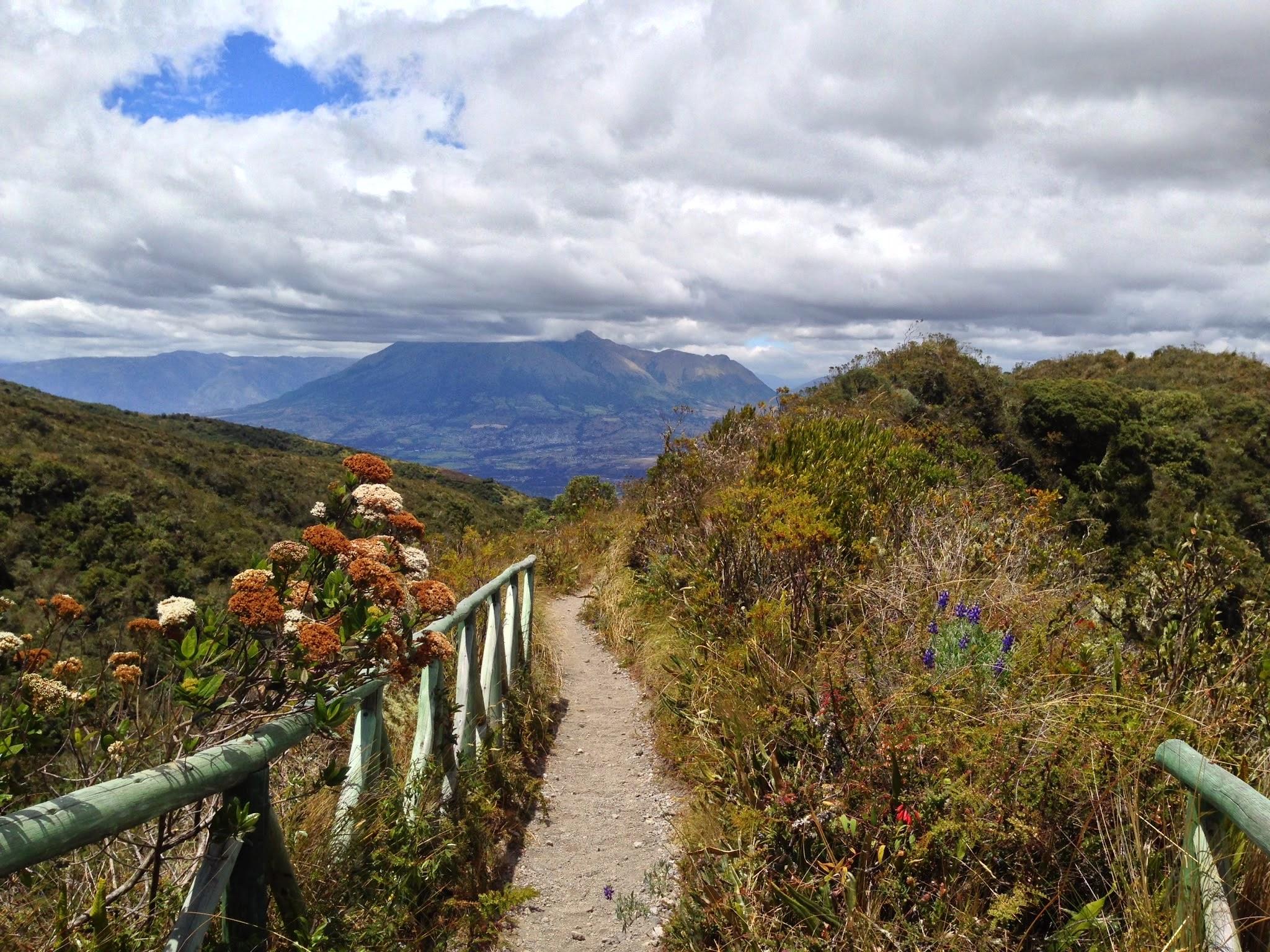 Vista para o Vulcão Imbaburra
