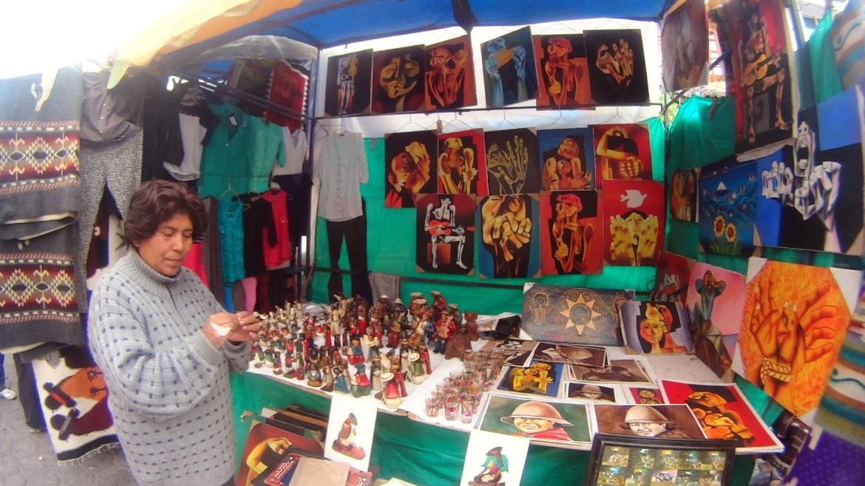 Itens do Mercado Indígena de Otavalo
